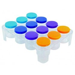 Boite de rangement pour plaquettes 12 tubes sur plateaux