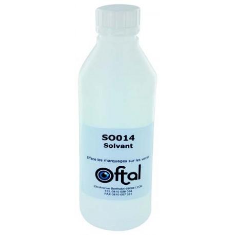 Solvant poue effacer tous les marquage des verres 1 litre