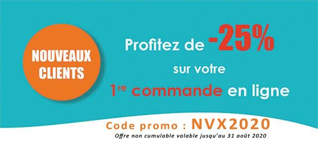 25% pour toute première commande sur oftal.fr